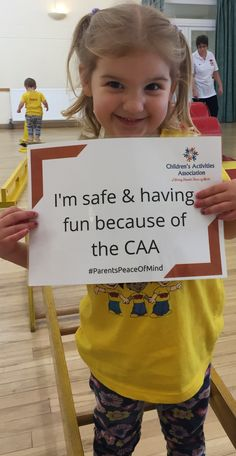 Kids are safe and having fun because of the CAA Peace Of Mind, Your Child, Letter Board, Children, Kids, Families, Have Fun, Parents, Lettering