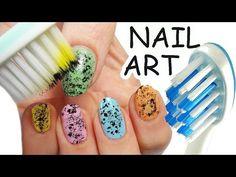 NAIL ART Facile Colorata con SPAZZOLINO da DENTI ! - http://www.nailtech6.com/nail-art-facile-colorata-con-spazzolino-da-denti/