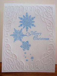 Snowflakes by BLN - Cards and Paper Crafts at Splitcoaststampers