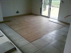 Parquet b ton cir for Jonction entre parquet et carrelage