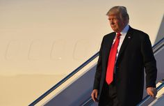 US President Donald Trump steps off Air Force One upon arrival at Andrews Air Force Base in Maryland on July 1, 2017. Trump is returning to Washington, DC to attend the Celebrate Freedom concert at the Kennedy Center for the Performing Arts. / AFP PHOTO / MANDEL NGANMANDEL NGAN/AFP/Getty Images