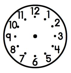 laminate and use vis-a vis to draw hands on clock for a given time