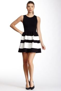 Love...Ady Striped Skirt Tank Dress by LOVE...ADY on @HauteLook