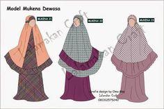 Hasil gambar untuk pola mukena Muslim Fashion, Hijab Fashion, Women's Fashion, Fashion Design Sketches, Sewing Patterns, Couture, Prayer, Dan, Model