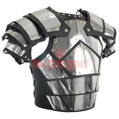 Conqueror Armor with Pauldrons - Leather and Metal Armor for LARP Armadura Medieval, Star Citizen, Medieval Armor, Medieval Fantasy, Larp, Foam Armor, Pauldron, Cosplay Armor, Armor Concept