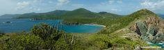 Panorama - Ram Head Trail looking back toward Salt Pond and Concordia Eco Resort on St John, USVI