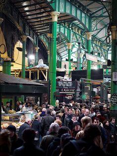 Inside Borough Market, London, England. Photo:  SimonJX, via Flickr