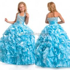 Wholesale 2013 Fall Ball Gown Halter Bead Sequin Ruffles Flower Girl Dresses Girls Pageant Dresses Pageant Dress, Free shipping, $92.41/Piece   DHgate Mobile