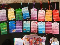 Paint sample, descriptive bookmarks - The kids loved them! caseyv4