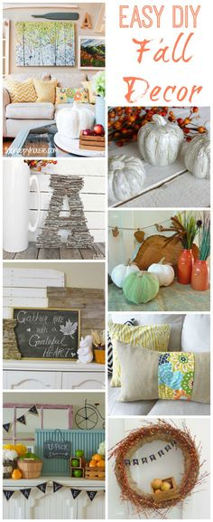 I love all these easy DIY Fall Decor ideas that you could pull together this weekend