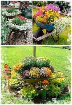Original ideas for flower beds