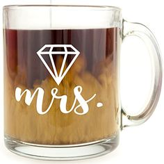 Diamond  Mrs  Glass Coffee Mug >>> Want to know more, click on the image.Note:It is affiliate link to Amazon. #LoveForMarvel