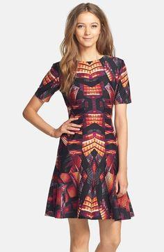 Gabby Skye Print Ponte Fit & Flare Dress was $98.00 now $58.80