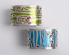 Two-Tone Seapod Cuff by Gogo Borgerding (Silver & Aluminum Bracelet)
