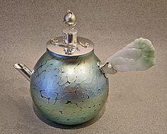 Elaine Hyde Glass and Precious Metals Tea Pot