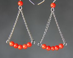 Dangling ball Earrings bridesmaids gifts Free US by AnniDesignsllc