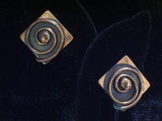 Vintage REBAJES Rebaje Copper Modernist Swirl Bead by TheCopperCat, $26.00
