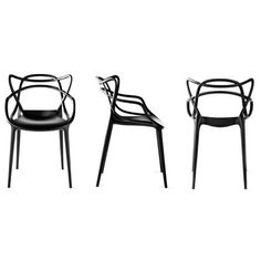 Masters Chair from Kartell - the lines of the Series 7 (Arne Jacobsen), Tulip Chair (Saarinen) & Eiffel Chair (Eames) in one. #chair #design