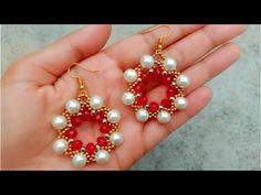 How to DIY Pearl Earring // Crystal Earring // Useful & Simple - - beautifuljewelr .Like DIY Pearl Earring // Crystal Earring // Useful & Simple - - beautifuljewelrydiy beltdiyideas crystal DIY AllaP: button earrings Bridal Earrings, Crystal Earrings, Beaded Earrings, Beaded Jewelry, Diy Beauté, Easy Diy, Diy Jewelry To Sell, Jewelry Making, Diy Crystals