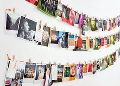 how to display polaroid pictures Photo Polaroid, Polaroid Frame, Polaroid Pictures, Square Snaps, Decoration Photo, Photo Deco, Sweet Home, Hanging Pictures, Apps