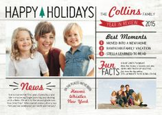 Mixbook Year in Review Holiday Photo Cards