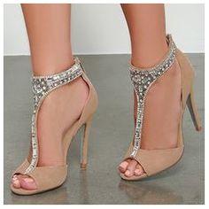 Shoespie Rhinestone Studded Dress Sandals