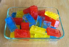 lego ice cubes (maybe from juices, add sprite)