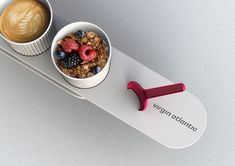 Virgin Atlantic Meal Service   Breakfast   Granola   I don't eat anything while traveling...