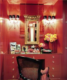 Red Dressing Area by Mary McDonald