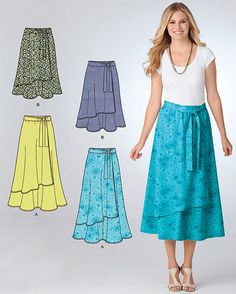 PLUS SIZE skirts pattern  2 lengths-5 sizes-1 easy pattern #patterns4you ~SOLD!