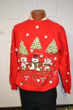 3D ooak vintage Tacky Ugly Christmas Sweater by NYinVogueVintage