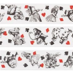 cute white Alice in Wonderland deco tape sticky tape by Mind Wave 1