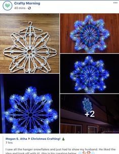Diy Christmas Decorations Easy, Diy Christmas Ornaments, Christmas Projects, Holiday Crafts, Christmas Wreaths, Christmas Ideas, Hanger Crafts, Creation Deco, Winter Christmas