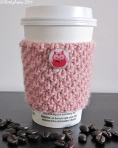 Woodland creatures, Coffee cup cozy and Coffee cozy