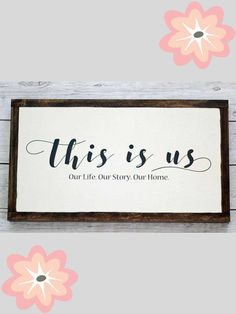 """Everyday farmhouse sign here that is perfect for a family room. None of us are perfect, but together we are """"us."""" 