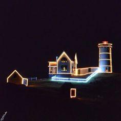 Christmas at Nubble Lighthouse York Maine