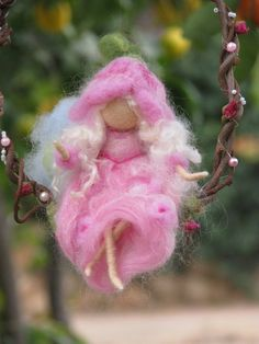 Needle+felted++fairy+sitting+on+a+twig+waldorf+by+Made4uByMagic,+$55.00