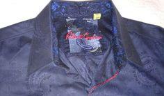 Robert Graham Mens Paisley Shirt Size L Flip Cuffs Button Up #RobertGraham #ButtonFront