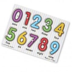 The Melissa and Doug Matching Numbers Puzzle helps young children recognise numbers.
