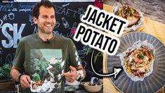GRILLEZETT JACKET POTATO gombával és cheddarral 🔥🥔 Naan, Cheddar, Potatoes, Drink, Food, Meal, Cheddar Cheese, Potato, Eten