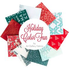 Holiday ColorFUN Fat Quarter Bundle Art Gallery Fabrics - Fat Quarter Bundles  | Fat Quarter Shop