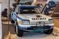 #Peugeot #205 #T16 #Grand_Raid au salon Auto e Moto d'Epoca de Padoue Reportage :  http://newsdanciennes.com/2015/10/27/grand-format-auto-e-moto-depoca-a-padoue/ #ClassicCar #Vintage #Voiture #Ancienne
