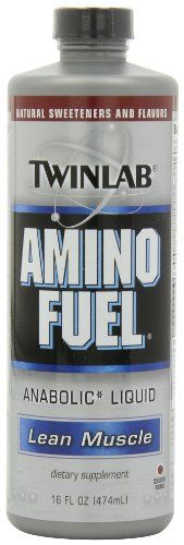 LOOK! Twinlab Amino Fuel Liquid, Cherry, 16-Ounces