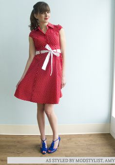 The Hepcat Dress in Cherry. A ModCloth favorite!