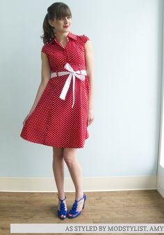 Hepcat Dress in Cherry
