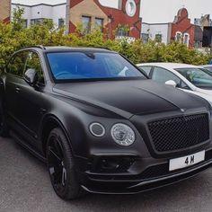 Bentley Bentayga Black Matte!! A true demon for a car!! #bentley #bentayga #black #matte #speedagents