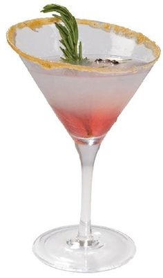 Mistletoe Martini - Christmas Holidays - lemon and orange juices, cranberry tea, sugar, vodka.