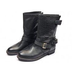 Nubikk Leva croco boots - zwart #emmenmode
