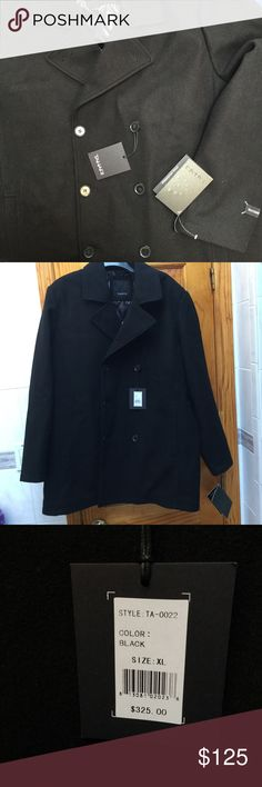NWT Men's Tahari Coat Stunning double breasted coat, brand new with tags! Retails for $325. Made from waterproof wool, sure to keep you warm this winter! Quilted inside for added bonus. Comes with plastic cover. Needs a new home!   💕💕Closet details💕💕 Completely posh compliant closet! 🎀 no trades 🎀 no holds 🎀 offers only through offer button 🎀 very negotiable! I'm more likely to make you a better deal without the bundle feature! So talk to me and let's see what we can do! 🎀 Happy…