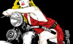 Biker via THE-ARTSHOP. Click on the image to see more!
